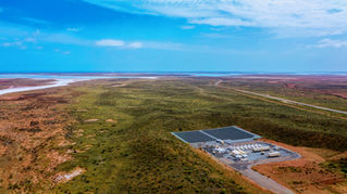 Wide Angle of Horizon Power Solar Farm - Onslow