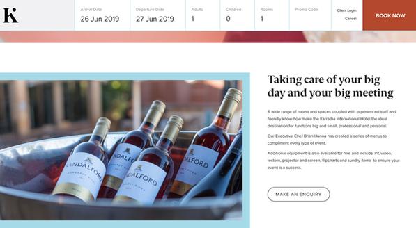 Sandalford Wines display at Karratha International