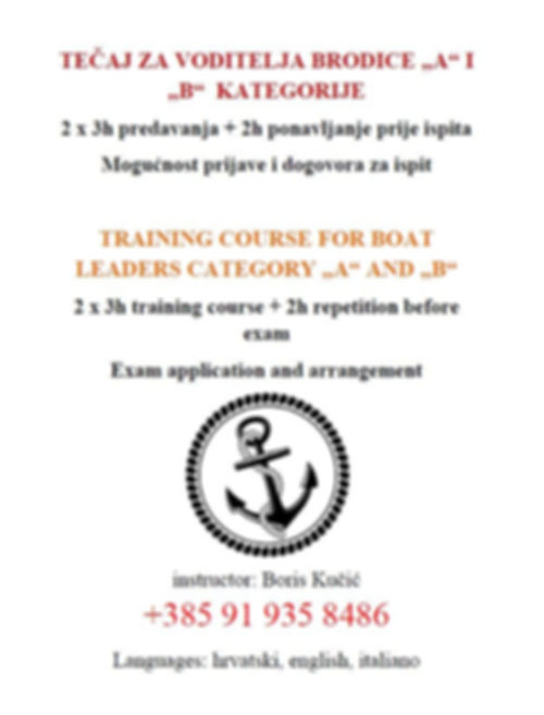 Cres Boats - Training Courses