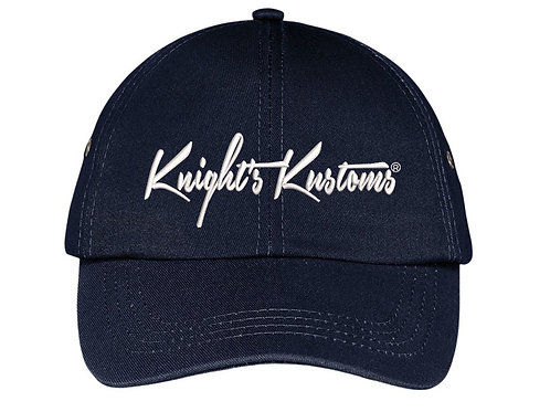 Navy Blue non-structured Hat w/ metal eyelets