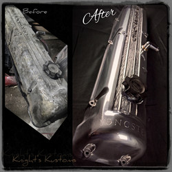 Knight's Kustoms valve cover polish and engraving
