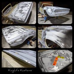 Knight's Kustoms Triumph Spitfire body work
