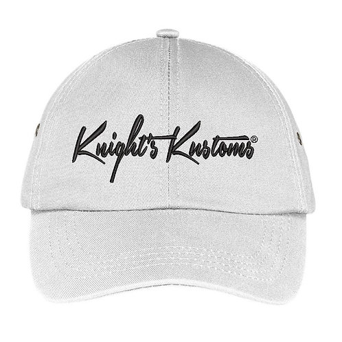 White non-structured Hat w/ metal eyelets