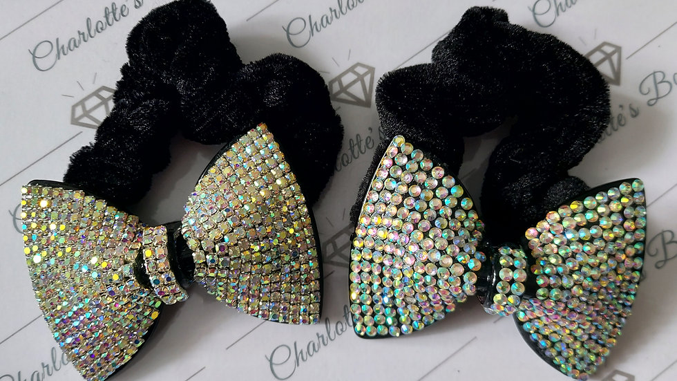 ◇Large Crystal Bow Scrunchie◇