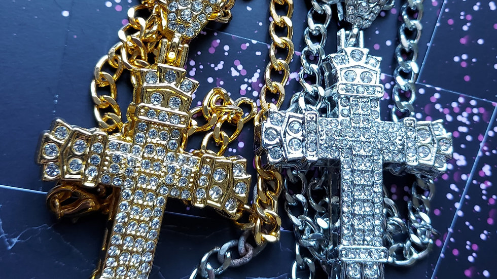 ◇Large,Chunky Cross Necklace◇