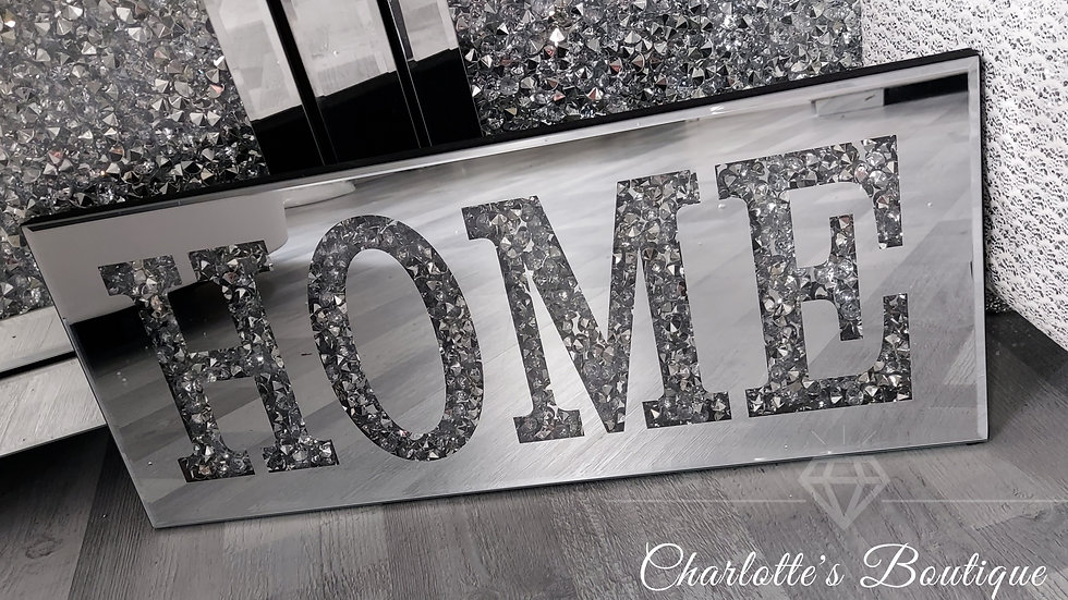 ◇Glass&Diamonds Home Wall Plaque◇