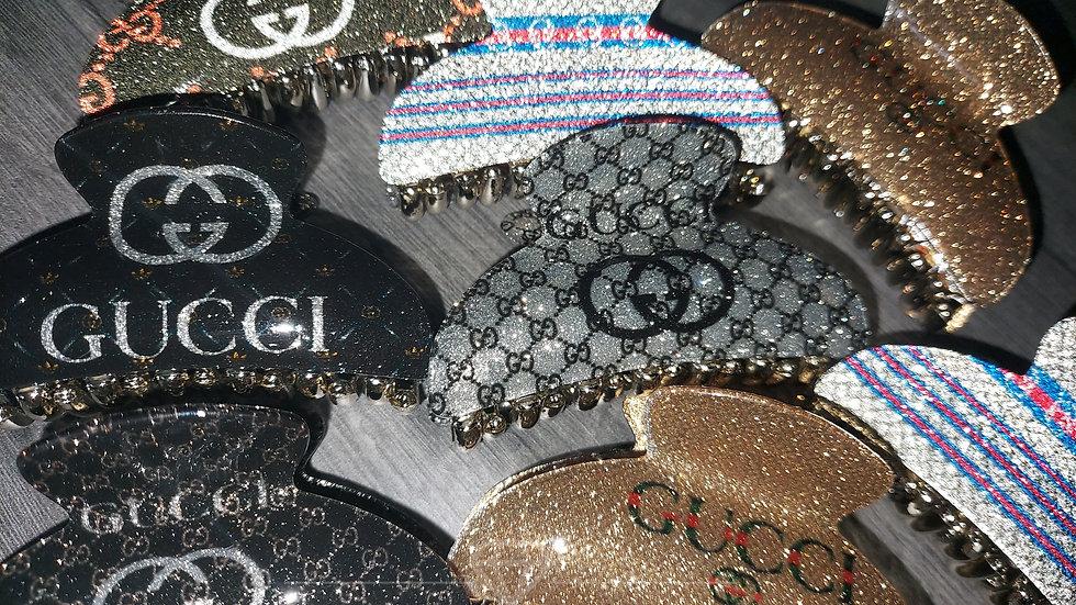 ◇Small Glitter Logo Claw Clip◇