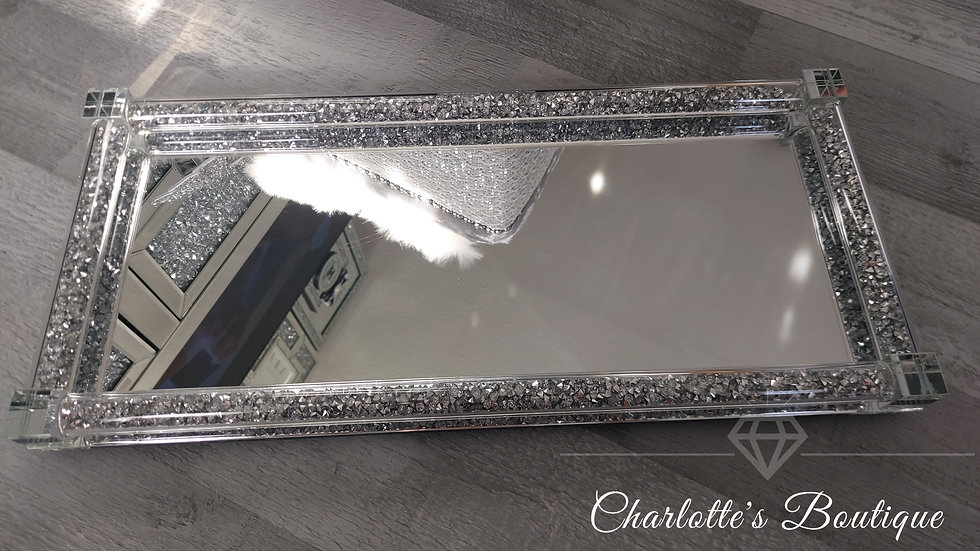 ◇Glass&Crystals Display Tray for Tea,Coffee,Sugar Canisters◇