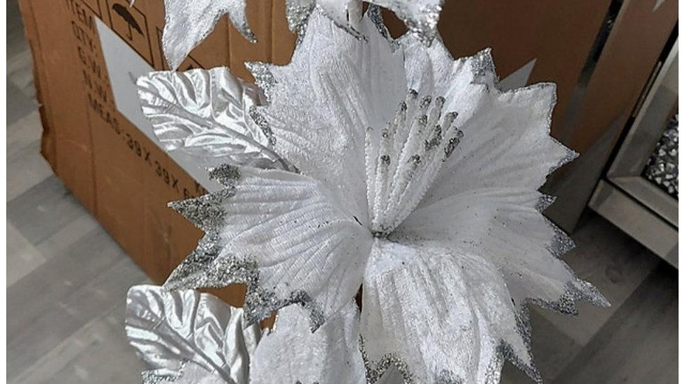 ◇3 Head White Flower Stem◇