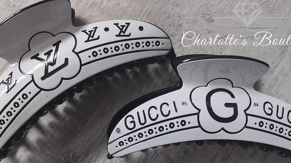 ◇White Logo Claw Clip◇