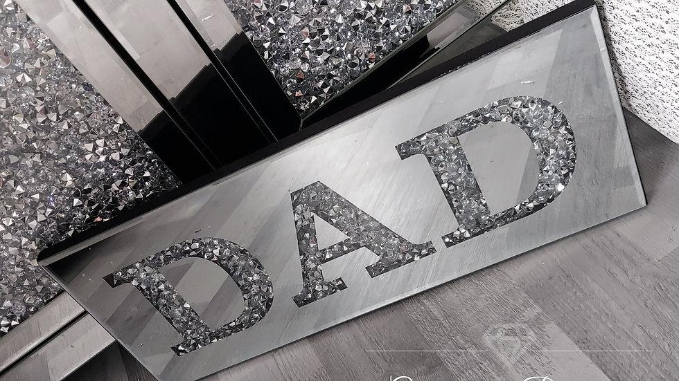 ◇Glass&Diamonds Dad Wall Plaque◇