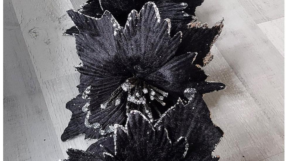 ◇ 3 Head Black Flower Stem◇