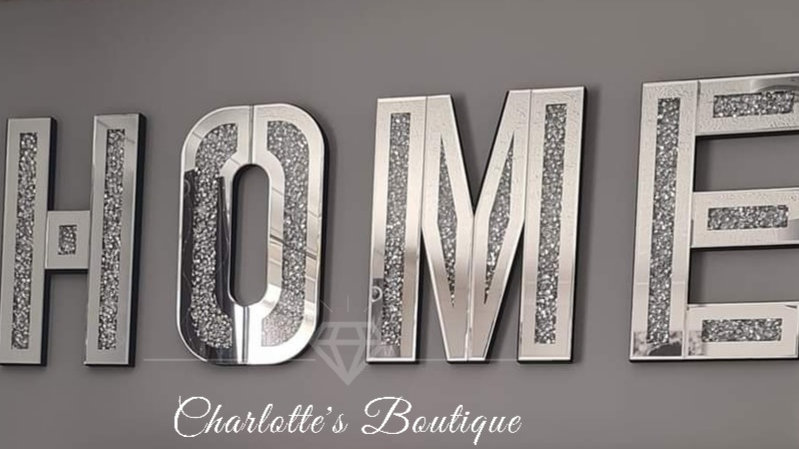 ◇Glass&Diamonds Large Wall Hanging HOME Letters◇
