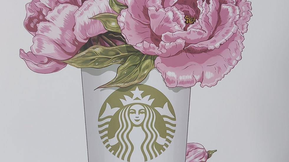 ◇Starbucks Roses Print◇