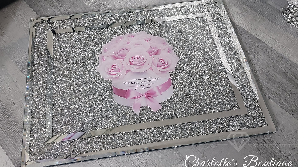 ◇Glass&Crystals Picture Chopping Board◇