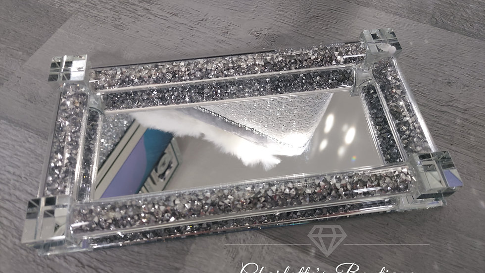 ◇Glass&Crystals Display Tray for the Salt&Pepper Pots◇