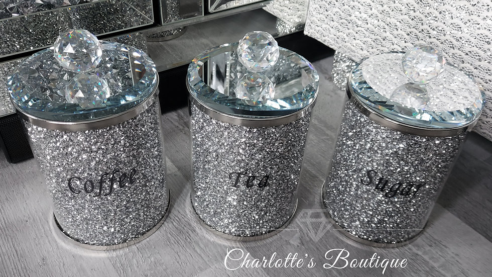 ◇Glass&Crystals Tea,Coffee,Sugar Canisters◇
