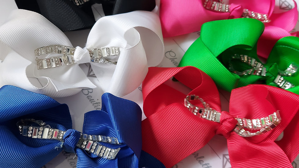 ◇Bow Clip with a Touch of Bling◇