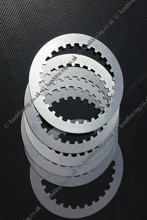 Dimpled clutch plates