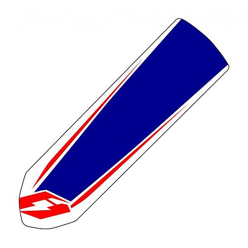Jitsie front mudguard fender decal Blue