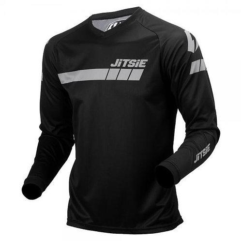 Jitsie L3 Triztan riding shirt- black/silver
