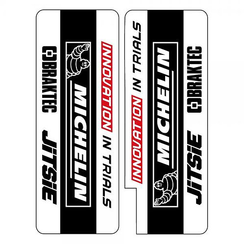 Fork Decals / stickers - Black/white/red