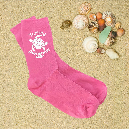 Turtley Awesome Pink Socks - More Variations Available
