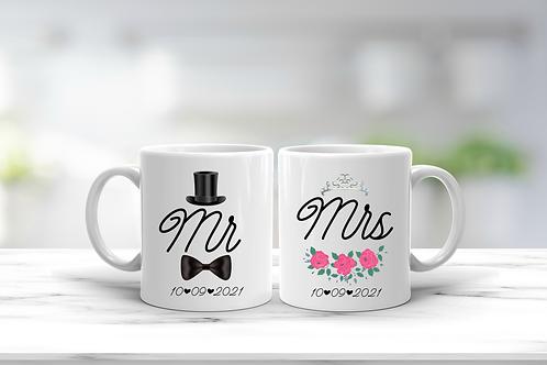 Wedding Mr And Mrs Mug Gift Set