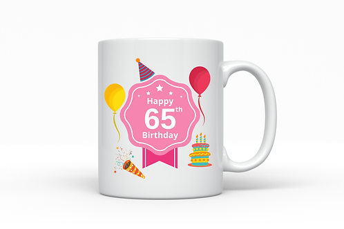 Birthday Milestone Pink Mug Gift - More Variations Available