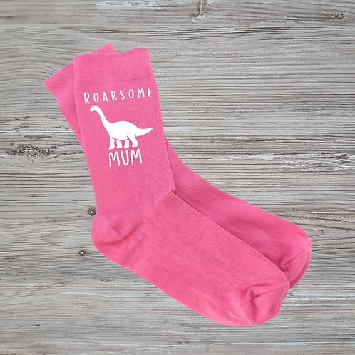 Roarsome Pink Socks - More Variations Available