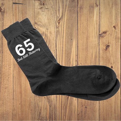 Still Maturing Birthday Milestone Black Socks - More Variations Available