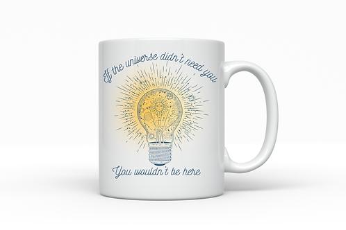 Universe Lightbulb Inspirational Quote Mug