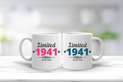 Limited Edition Birthday Year Milestone Mug Gift - More Variations Available