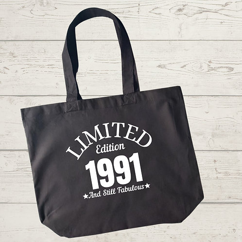 Limited Edition Birth Year Tote Bag