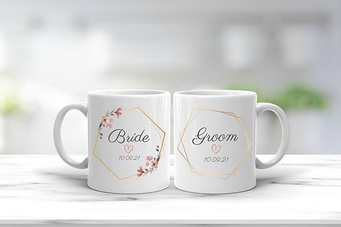 Wedding Bride And Groom Mug Gift Set