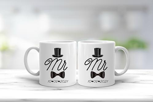 Wedding Mr And Mr Mug Gift Set