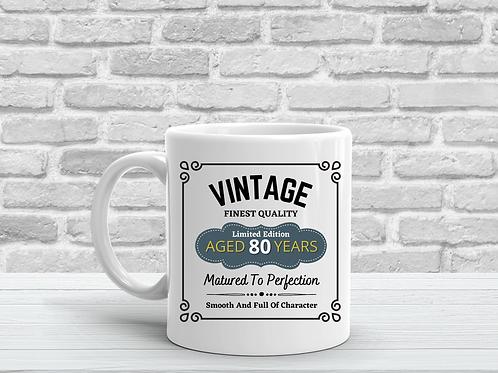 Vintage Bourbon Birthday Milestone Mug Gift - More Variations Available