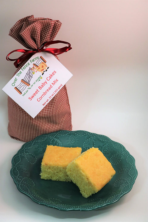 Sweet Baby Cakes Cornbread Mix - Over the Fence Farms