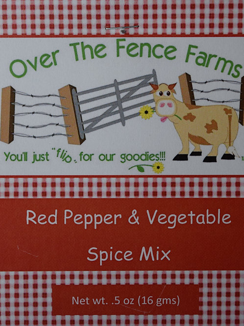 Red Pepper and Vegetable Spice Mix- Over the Fence Farms