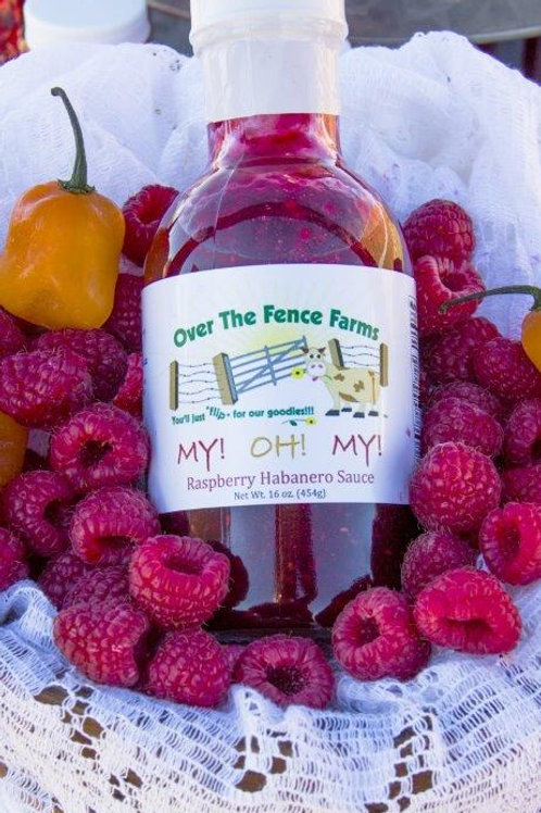 My! Oh! My! Raspberry Habanero Sauce- Over the Fence Farms