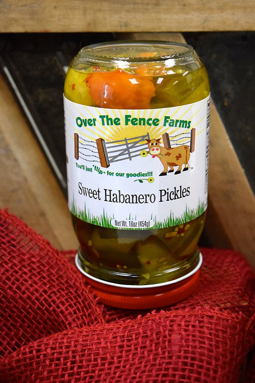 Sweet Habanero Pickles-Over the Fence Farms