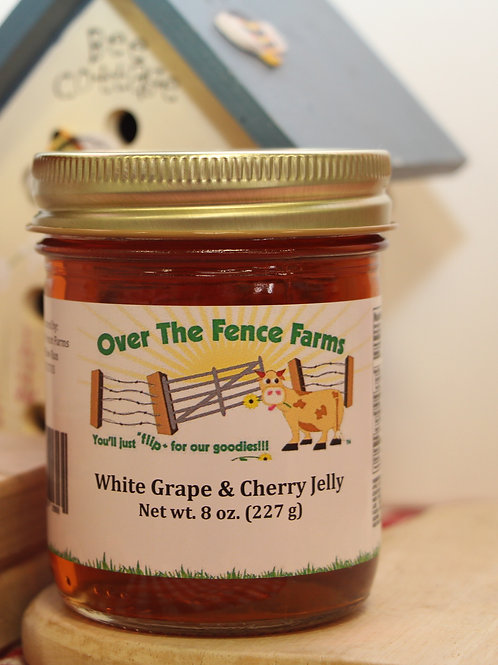 White Grape & Cherry Jelly- Over the Fence Farms - 8oz