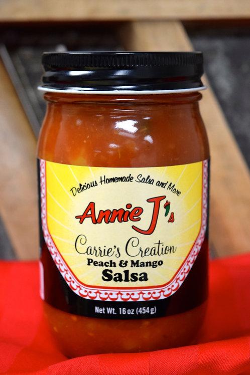 Annie J's Carrie's Creation Peach & Mango Salsa- 16oz