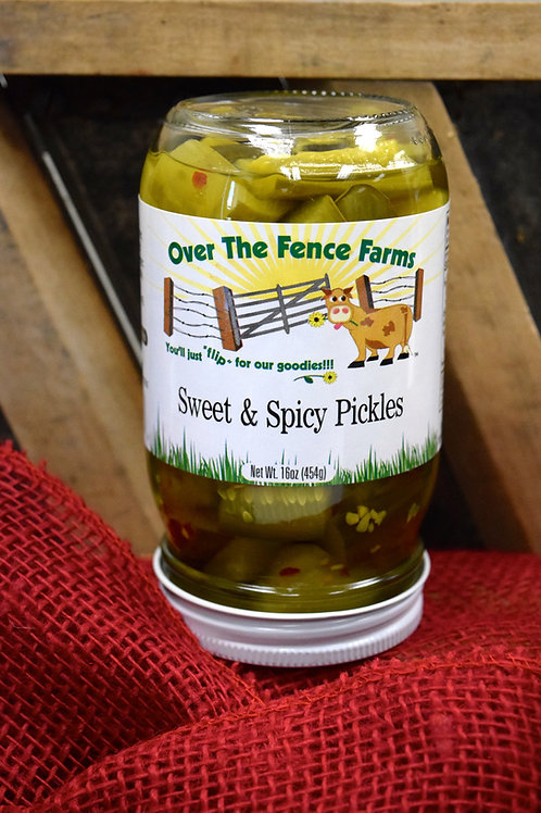 Sweet & Spicy Pickles-Over the Fence Farms