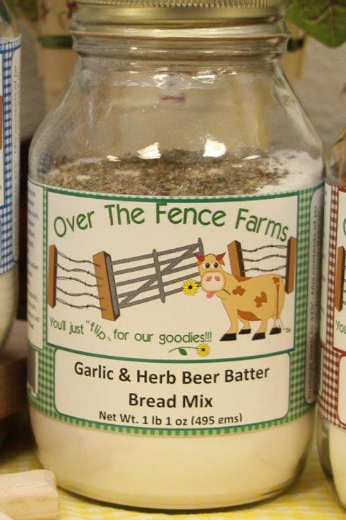 Garlic & Herb Beer Batter Bread Mix- Over the Fence Farms