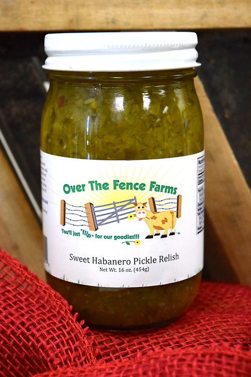 Sweet Habanero Pickle Relish- Over the Fence Farms