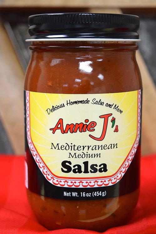 Annie J's Mediterranean Medium Salsa- 16 oz