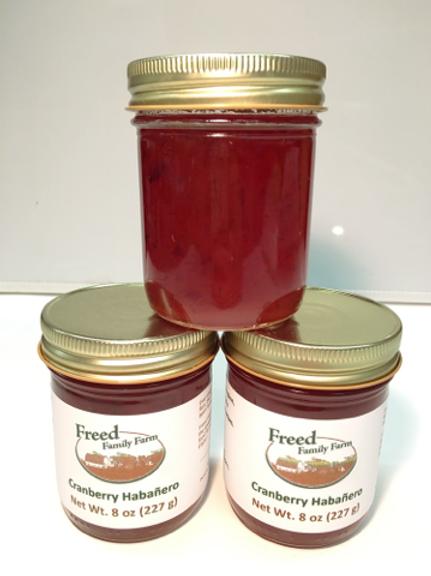 Cranberry Habanero Jelly-Freed Family Farms