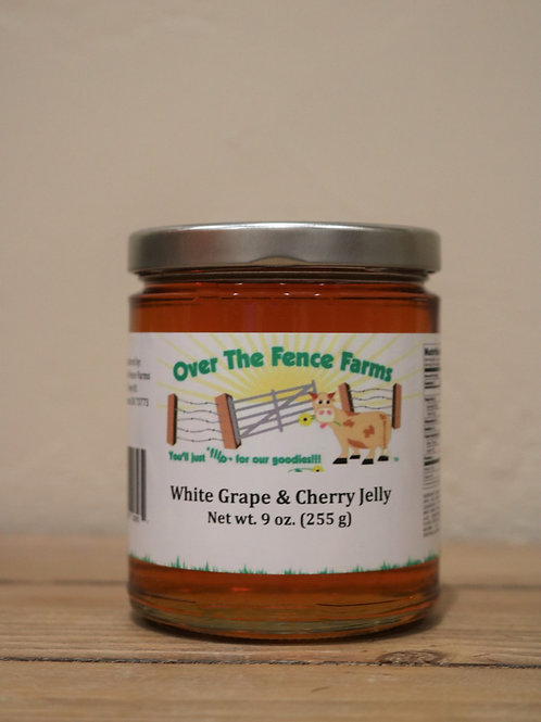 White Grape & Cherry Jelly- Over the Fence Farms -9oz