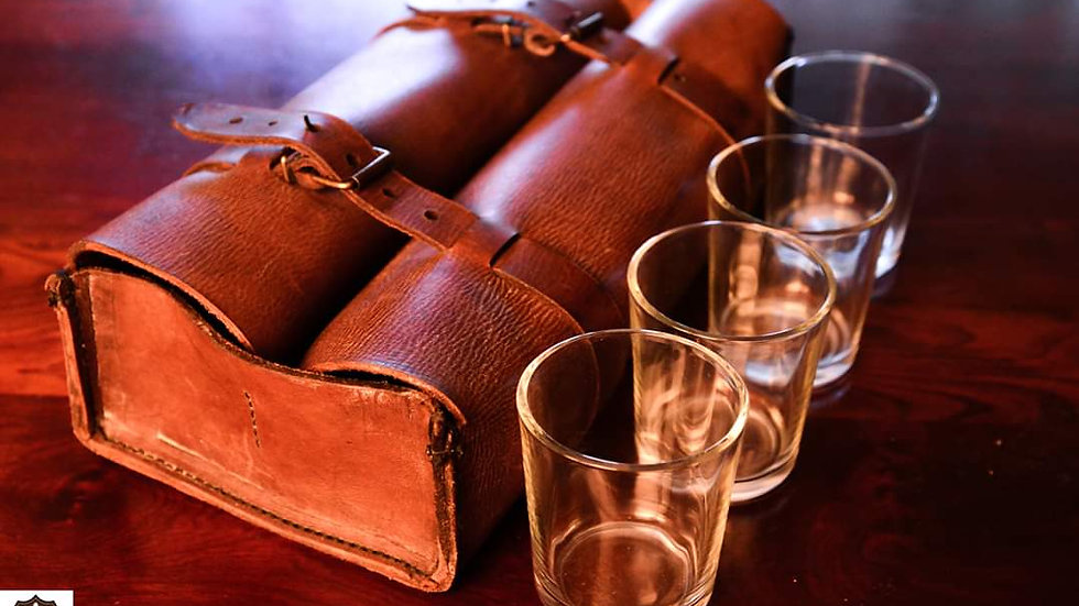 Leather Whiskey Bag